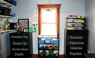 black and white and toys all over our playroom reveal, bedroom ideas, entertainment rec rooms, painted furniture, repurposing upcycling