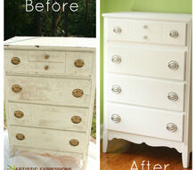 refinishing a chest of drawers, painted furniture, repurposing upcycling
