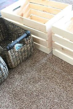 diy mudroom storage crates, foyer, organizing, repurposing upcycling, shelving ideas, storage ideas