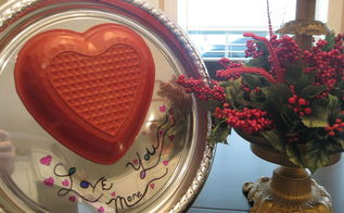 love you more cheap valentine plate display, crafts, how to, repurposing upcycling, seasonal holiday decor, valentines day ideas