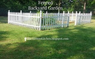 fenced backyard garden, container gardening, fences, gardening, how to, outdoor living, raised garden beds