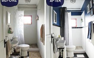 easy cost effective bathroom make over, bathroom ideas, home improvement, painting, wall decor