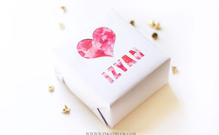 diy gift wrap for valentine s day, crafts, how to, seasonal holiday decor, valentines day ideas