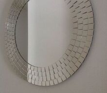 q what should i do with this dated mirror, home decor, wall decor, This mirror is just under 20 inches It has gaps in between the smaller mirrored peices that make it hard to clean and collect dust
