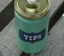 recycled laundry room tip jar, laundry rooms, mason jars, organizing, repurposing upcycling