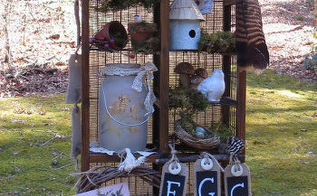 for the birds turn a cd stand into a bird themed curiosity cabinet, painted furniture, repurposing upcycling, rustic furniture, The completed cabinet