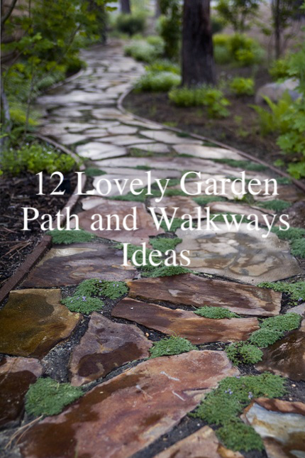 12 lovely path and walkways ideas for a beautiful garden hometalk - Slab pathway design ideas ...
