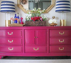 American Of Martinsville Campaign Credenza, Painted Furniture