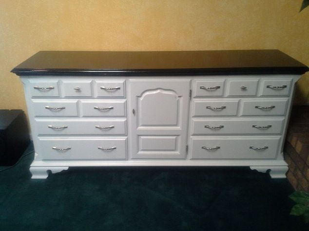 From Old Dresser To Two Tone Tv Stand Hometalk