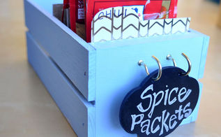 simple spice packet organizer, crafts, how to, kitchen design, organizing, storage ideas
