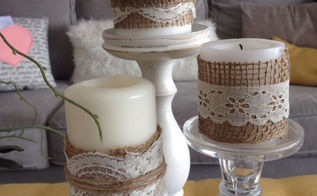 burlap lace luminaries, crafts, mason jars, repurposing upcycling