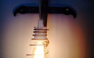 ikea sekond bedspring pendant light, how to, lighting, repurposing upcycling