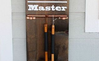 diy grill tool display sign, crafts, decoupage, outdoor living, repurposing upcycling, woodworking projects