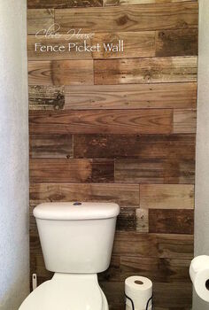 fence picket wall, bathroom ideas, how to, repurposing upcycling, wall decor, woodworking projects