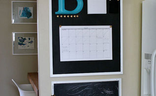kitchen calendar command center, chalkboard paint, how to, kitchen design, organizing, repurposing upcycling
