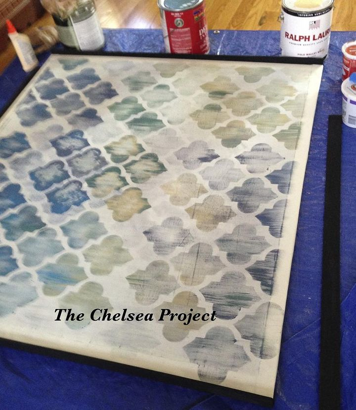 diy artwork make the canvas painting and frame chalk paint crafts how to