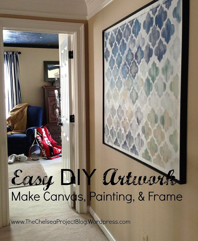 diy artwork make the canvas painting and frame hometalk