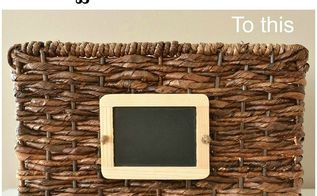 pottery barn knockoff chalkboard labels, crafts, how to, organizing