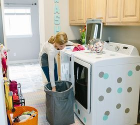 Colorful Laundry Mud Room Makeover Hometalk