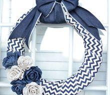 10 minute denim wreath, crafts, wreaths