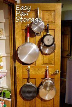 easy pan storage, kitchen cabinets, kitchen design, organizing, storage ideas
