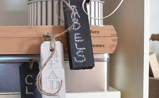 an idea for small leftover pieces of wood from diy projects, chalkboard paint, craft rooms, crafts, how to, organizing, woodworking projects