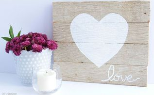 rustic wooden love sign, crafts, how to, seasonal holiday decor, valentines day ideas