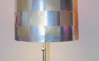 duct tape diy lamp shade, crafts, lighting, repurposing upcycling