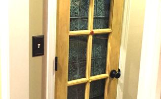 how to update a pantry door, closet, crafts, doors, how to, repurposing upcycling, tiling, Now cute shabby Chic pantry door