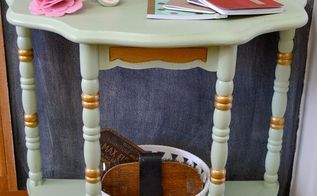 mint and gold accent table, painted furniture