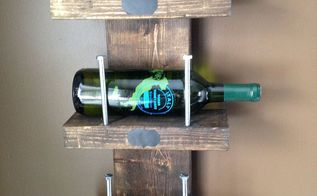 diy wine rack, diy, wall decor, woodworking projects