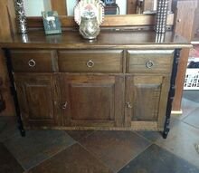 q distress walnut hutch, painted furniture, walnut base wood