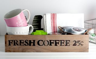 diy vintage looking coffee station made with wood scraps, crafts, painted furniture, woodworking projects