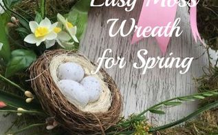moss wreath for spring, crafts, easter decorations, how to, seasonal holiday decor, wreaths