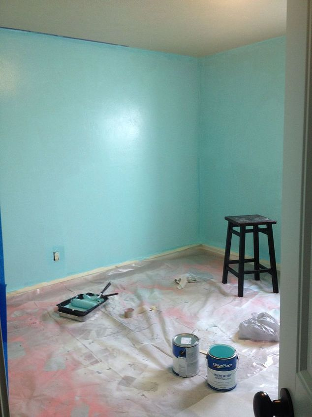 Hot pink and turquoise girls bedroom makeover hometalk for Bedroom ideas turquoise