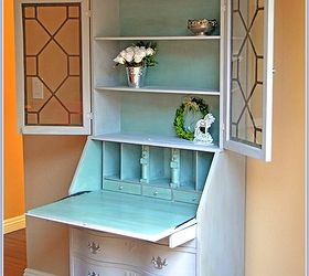 paris chic secretary, chalk paint, painted furniture