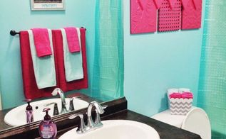 Our homeowners expressed a desire to change their early 90 for Hot pink bathroom ideas