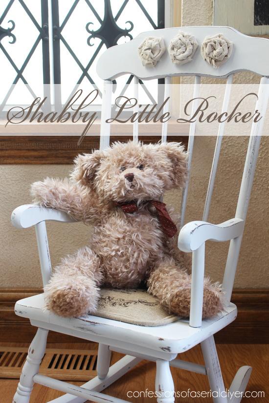 Little Shabby Chic Rocking Chair Hometalk