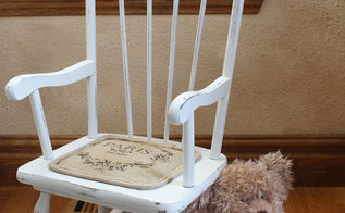 shabby little rocking chair, painted furniture, shabby chic