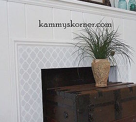 Painting And Stenciling On A Granite Fireplace | Hometalk