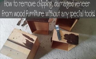 how to remove wood veneer without any special tools, how to, painted furniture, woodworking projects