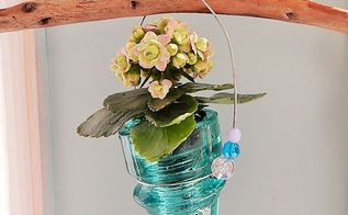 insulator turned planter, flowers, gardening, home decor, repurposing upcycling, succulents