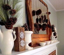 winter mantle, fireplaces mantels, repurposing upcycling
