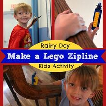 bored kids build a lego zipline in minutes kidsideas, crafts