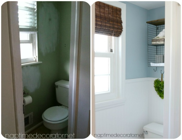 Budget Powder Room Makeover Hometalk