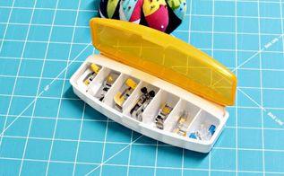 organizing sewing machine feet, crafts, organizing, repurposing upcycling, storage ideas, Use a pill case to keep sewing machine feet