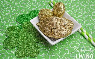 lucky leprechaun rocks, crafts, decoupage, how to, seasonal holiday decor