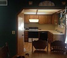 q 80 s kitchen in need of a facelift, home improvement, kitchen design, Kitchen looking at it from the dining room