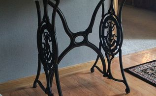 sewing machine base becomes a beauty, painted furniture, repurposing upcycling, The finished product