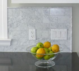 marble pencils line a backsplash photo from houzz - Arabesque Tile Backsplash
